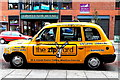 J3373 : Belfast - City Centre - Yellow Taxi along Glengall Street near Bus Station by Suzanne Mischyshyn