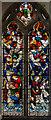 TR0624 : Stained glass window, St Nicholas, New Romney by Julian P Guffogg