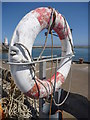 NU2232 : Coastal Northumberland : Lifebelt, North Sunderland Harbour, Seahouses by Richard West