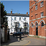 SP7387 : Market Harborough: The Three Swans and The Old Town Hall by John Sutton