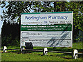 TM4489 : Worlingham Pharmacy sign by Adrian Cable