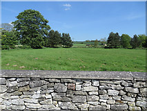 SE7485 : Drystone wall with farmland view by Pauline E
