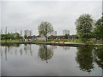 SJ8599 : Park improvements, Miles Platting by Christine Johnstone