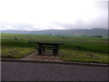 NO2010 : Picnic table in an A91 lay-by near Strathmiglo by Stanley Howe