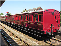 TL8928 : GER railway carriages, 19 & 553, East Anglian Railway Museum, Chappel & Wakes Colne by Roger Jones