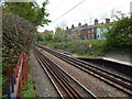 TM0321 : Railway line East of Wivenhoe railway station by Hamish Griffin