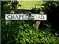 TM4888 : Chapel Road sign by Geographer