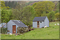 NG8838 : Corrugated metal buildings near to Lochcarron by Trevor Littlewood