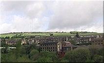 SE0714 : Hillside at Slaithwaite from railway by John Firth