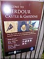 NT1985 : Access notice for Aberdour Castle & Gardens by Stanley Howe