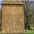 SP3747 : Obelisk memorial to Lieut. Col. F. S. Miller, former Radway Grange estate below Edgehill: 3 by Robin Stott