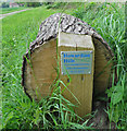 SE6576 : Plaque on a log seat by Pauline E