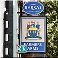SJ8289 : Sign of the Farmers Arms by Gerald England