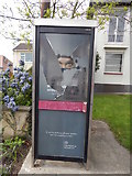 TM0321 : HMRC is closing in on undeclared income sign of telephone box, Wivenhoe by Hamish Griffin