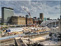 SJ8499 : Victoria Station Redevelopment - May 2014 by David Dixon