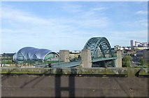 NZ2563 : Tyne Bridge and The Sage by Russel Wills