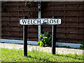TM4888 : Welch Close sign by Adrian Cable