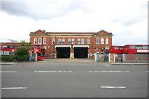TQ3772 : Catford bus garage,  entrance from Bromley Road by David Kemp