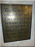 SP7006 : St Mary, Thame: memorial (17) by Basher Eyre