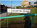 TM1643 : Selwyn Close sign by Hamish Griffin