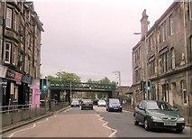 NS4075 : Railway bridge at Dumbarton East station by John Firth