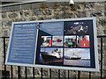 NM8529 : Information Board at the Northern Lighthouse Board Depot, Oban by Becky Williamson