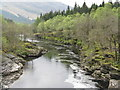 NN2431 : The River Orchy in spring by M J Richardson