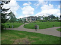 SZ0199 : Wimborne Minster: the new Waitrose and public open space by Chris Downer