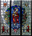 TQ6509 : Stained glass window, St Mary Magdalene church, Wartling by Julian P Guffogg