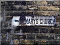TQ2672 : Old enamel fingerpost on Keble Street by David Howard