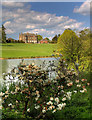 SP5241 : House and lake, Thenford Arboretum by David P Howard