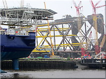 NZ3166 : Oil exploration vessels, Hadrian Yard, Wallsend by Andrew Curtis