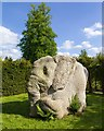 SP5242 : Wounded Elephant, Sculpture Garden,Thenford Arboretum by David P Howard