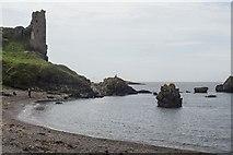 NS2515 : Rocks below Dunure Castle by John Firth