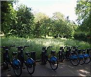 TQ2882 : Bike Docking Station, Regent's Park NW1 by David Hallam-Jones