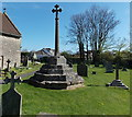 ST4168 : Medieval cross restored as a Great War Memorial, Kenn by Jaggery