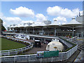 TQ1465 : Sandown Park - main stand (rear) by Stephen Craven
