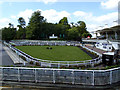 TQ1465 : Sandown Park - parade ring by Stephen Craven