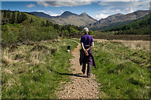 NM8363 : Beside the Strontian River by Hugh Close