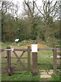 SP0563 : An entrance to Rough Hill Wood from The Slough A448, south of Redditch by Robin Stott