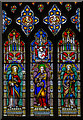 TQ9947 : Stained glass window, St Mary's church, Westwell by Julian P Guffogg