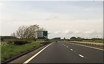 NS3529 : B746 junction half mile ahead from A78 by John Firth