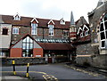 ST6071 : Turret in  a corner of Hillcrest Primary School, Totterdown, Bristol by Jaggery