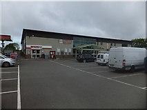 SX6095 : Mole Avon stores and Spar minimarket on the edge of Okehampton by David Smith
