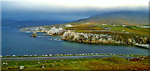 L6896 : County Mayo - Achill Island - Descending Atlantic Drive from Crest at Viewpoint by Suzanne Mischyshyn