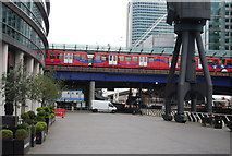 TQ3780 : West India Quay DLR Station by N Chadwick