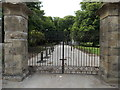 ST1776 : Main gates at the Cowbridge Road East entrance to Bute Park, Cardiff by Jaggery