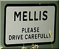 TM1074 : Mellis Village Name sign on Mellis Road by Adrian Cable