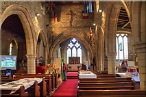 SK8594 : Interior, St Martin's church, Blyton by J.Hannan-Briggs