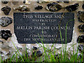 TM1074 : Plaque on Mellis Village sign by Adrian Cable